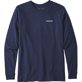 Patagonia P-6 Logo LS Responsabili-Tee Hombre, classic navy